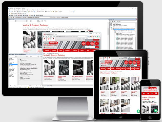 Sellerdeck Web Design for Trade Radiators