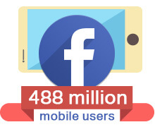488 million Facebook mobile users