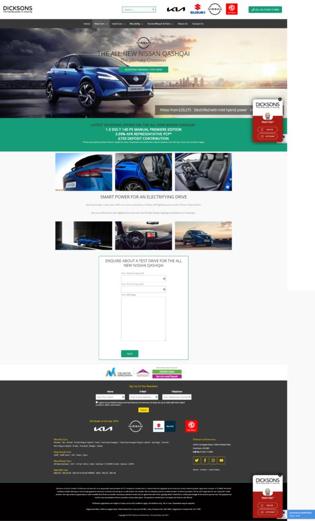 Dicksons website
